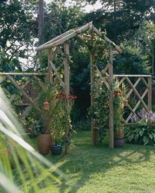 Rustic Rose Arch Garden Arches Garden Archway Rustic Gardens