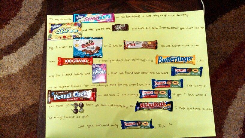 Candy card for my boyfriends birthday! ) Boyfriend