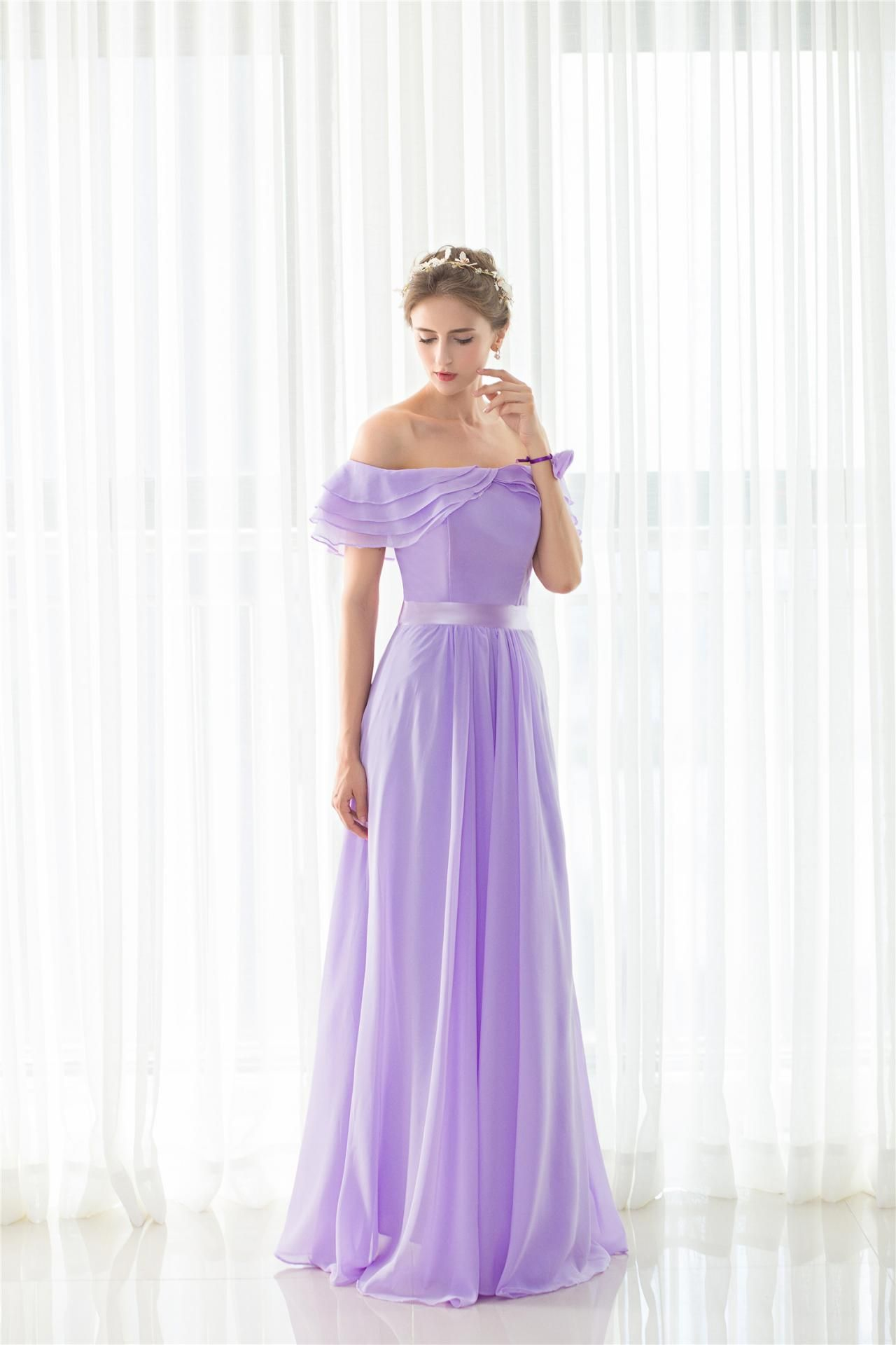 Lavender bridesmaid dressesstrapless maid of honor dress