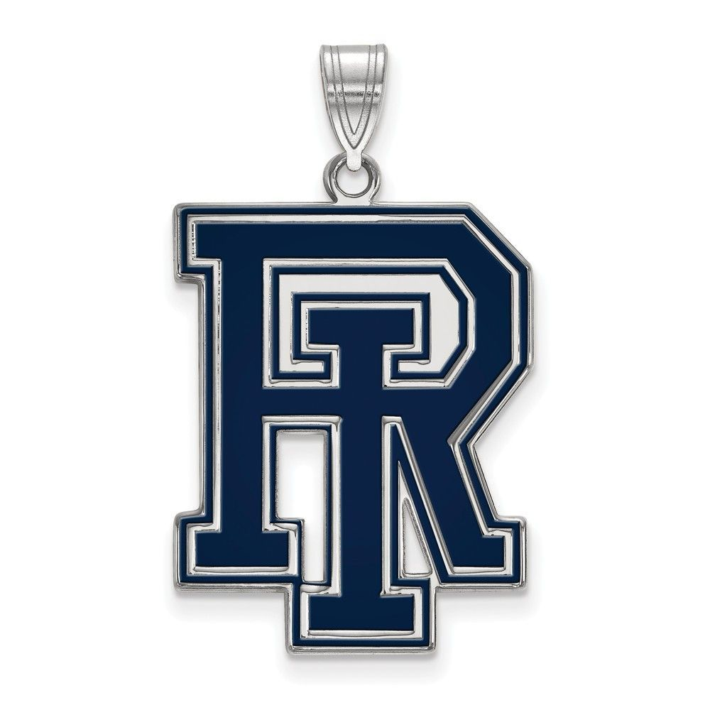 925 Sterling Silver Rhodium-plated Laser-cut University of San Francisco Small Pendant