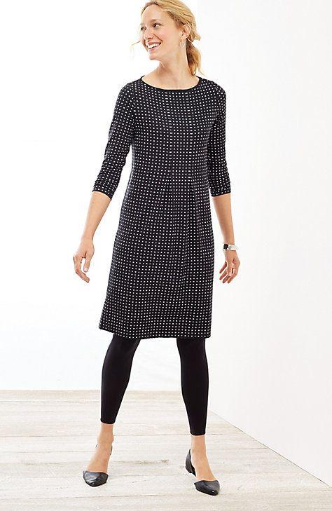 plus size Wearever center-pleat dress | J.Jill