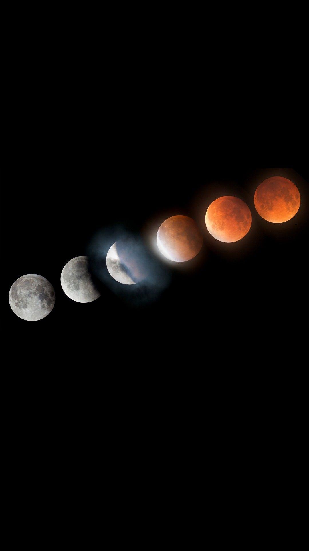 iPhone X Wallpaper Super Blood Moon Lunar Eclipse