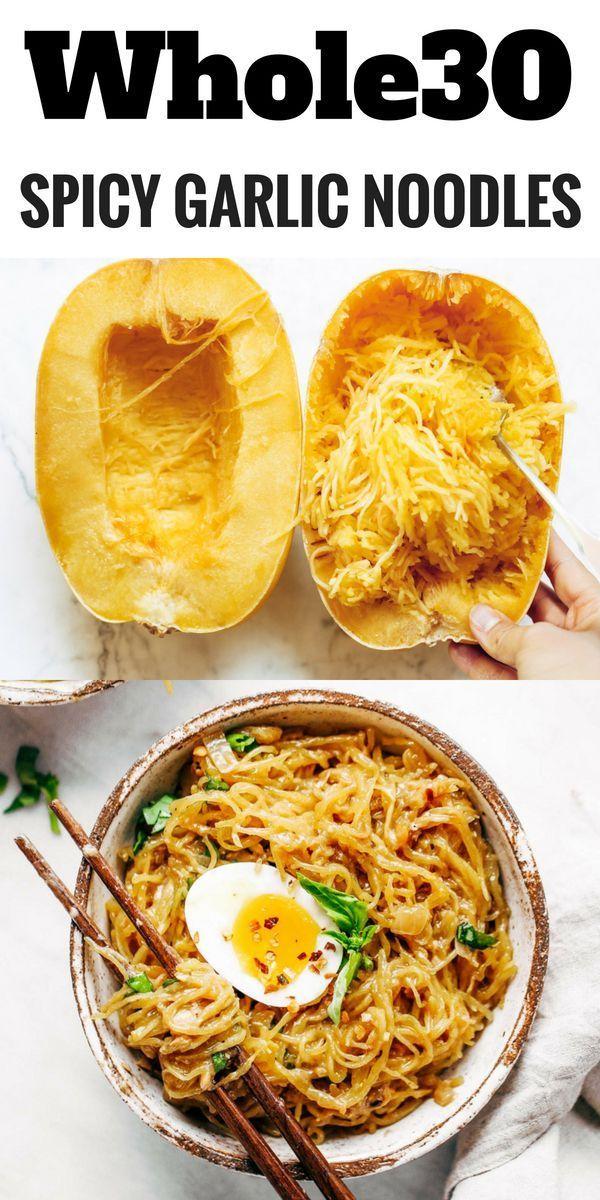 Spicy Spaghetti Squash Noodles – Paleo Gluten Free Eats