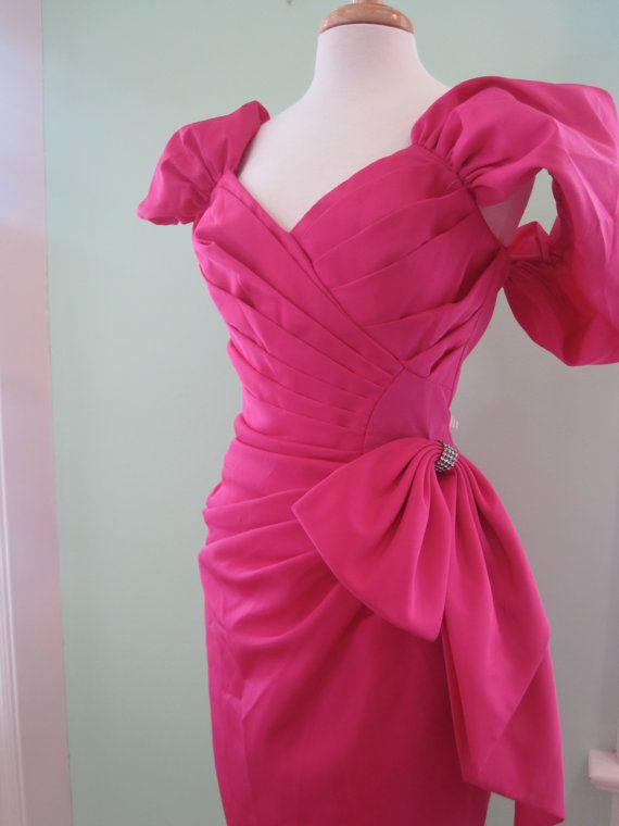 Hot Pink 80\'s Prom Dress | THE EIGHTIES | Pinterest