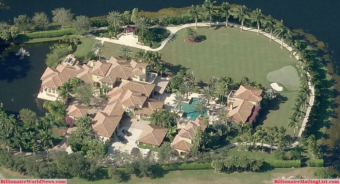 Billionaire Miami Mansions From Above An Aerial View