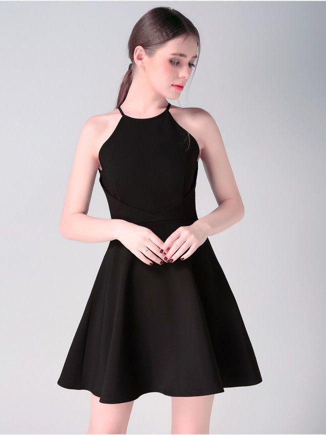 e0d0d07dd458 Beautiful Halter Spandex Sleeveless Black Short Mini Homecoming Little  Black Dress ItemYHC0004F #halter #spandex #sleeveless #black #short #mini  ...