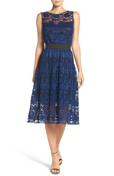 06d2460142 Free shipping and returns on ECI Pleated Lace Fit   Flare Dress at ...