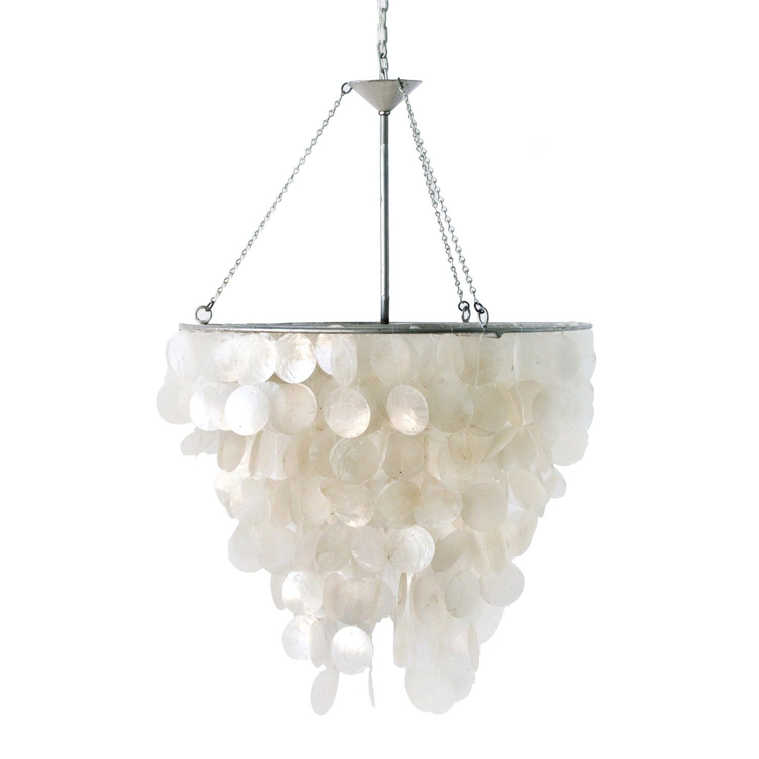worlds away capiz shell chandelier