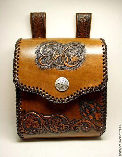 31cff1464ab3 Мужские сумки ручной работы. Ярмарка Мастеров - ручная работа. Купить  Мужская кожаная сумка на ремень ручной работы. Handmade.