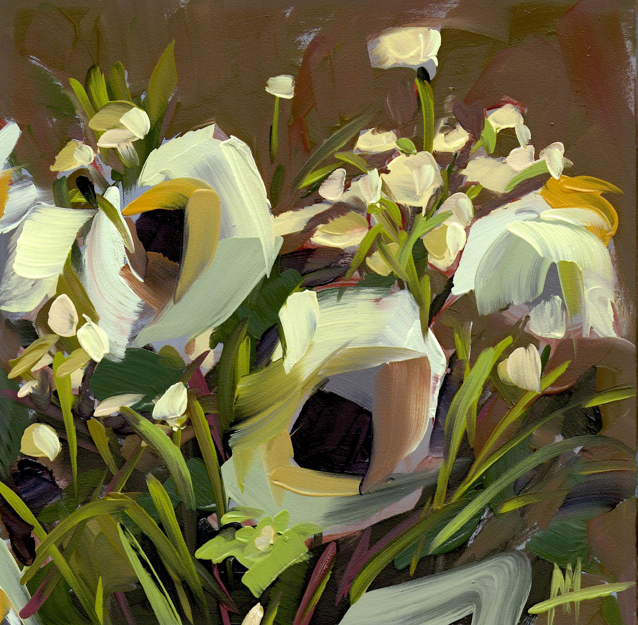 Cream Bouquet Art Print by Angela Moulton 8 x 8 inch | ARTE ...