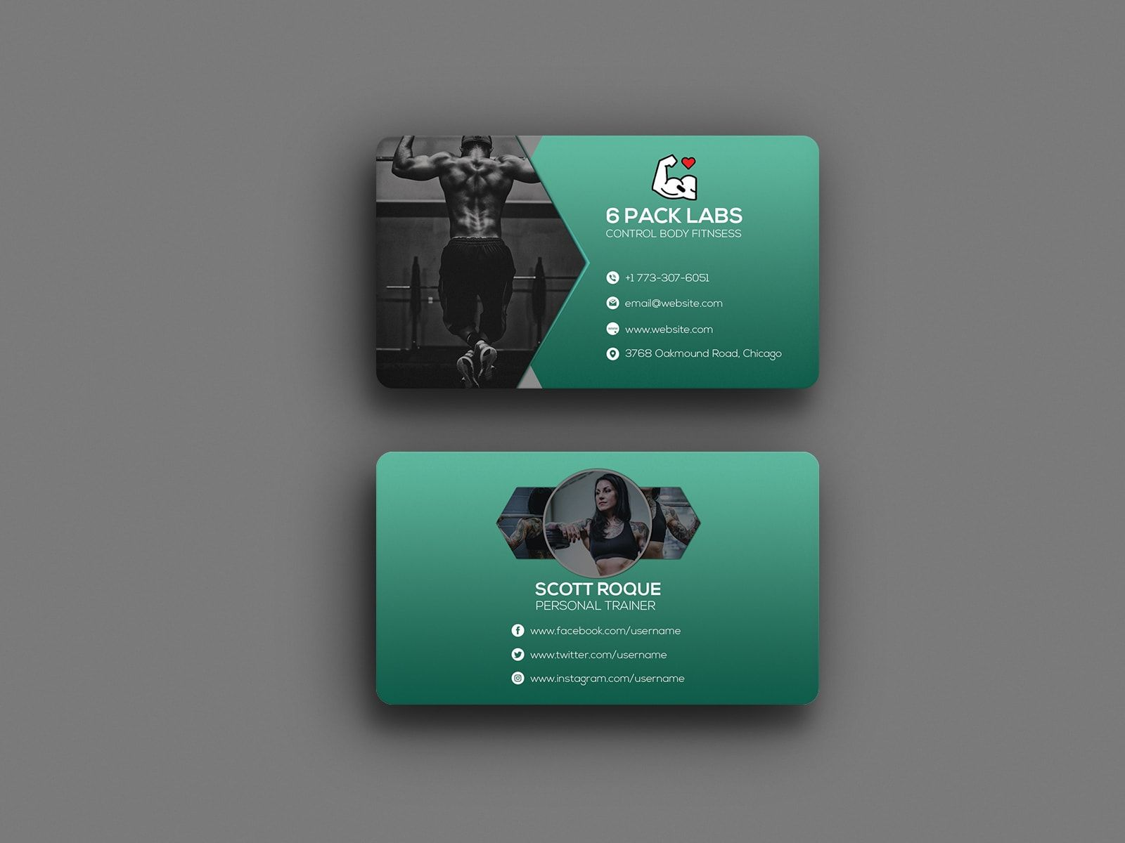 6 Pack Abs Personal Trainer Business Card Personal Trainer Business Card Personal Business Cards Personal Trainer Business