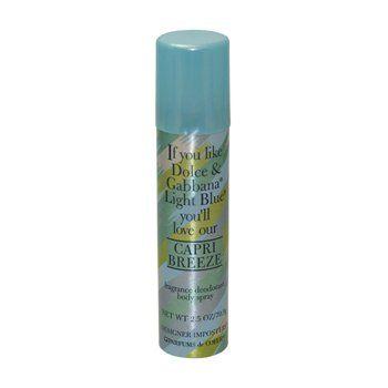 Capri Breeze Body Spray By Parfums De Coeur Dupe Of Light