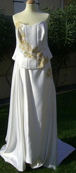 Robe de mariée avec bustier