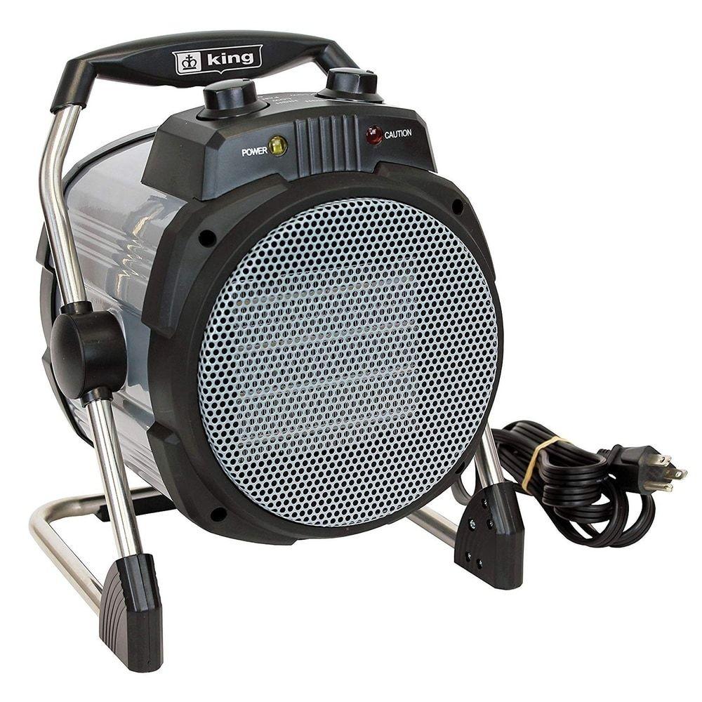 King Electric 1500W 120V Ceramic Workspace Heater, Silver