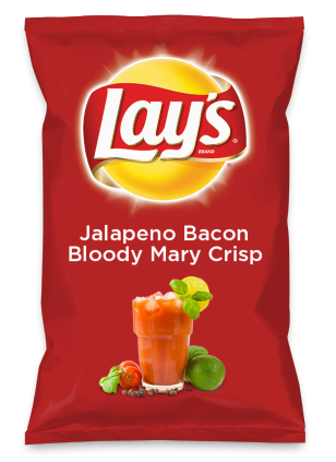 Wouldn't Jalapeno Bacon Bloody Mary Crisp be yummy as a chip? Lay's Do Us A Flavor is back, and the search is on for the yummiest flavor idea. Create a flavor, choose a chip and you could win $1 million! https://www.dousaflavor.com See Rules.