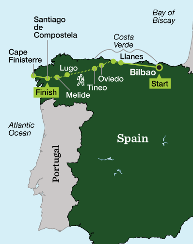 Hike The Camino Del Norte And The Camino Primitivo The Least Traveled Routes Of The Camino De Santiago Join Rei For This Fully Gu Camino De Santiago Spain Travel Outdoor Travel