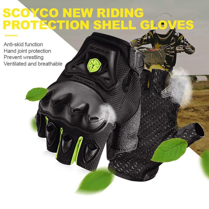 Scoyco Half Finger Motorcycle Gloves Offroad Racing For Yamaha Kawasaki Harley Davidson Suzuki Sportster Triumph Bmw Ktm Gloves Motorcycle Gloves Ktm Suzuki