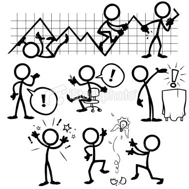 Stickfigure Business Ideas Royalty Free Stock Vector Art Illustration