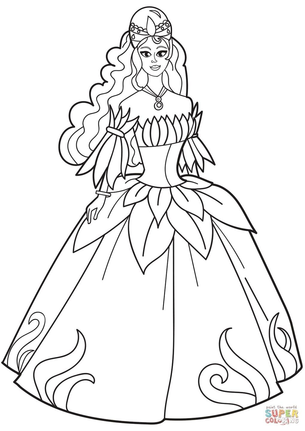 25 Creative Picture Of Dress Coloring Pages Entitlementtrap Com Princess Coloring Pages Coloring Pages For Girls Princess Coloring