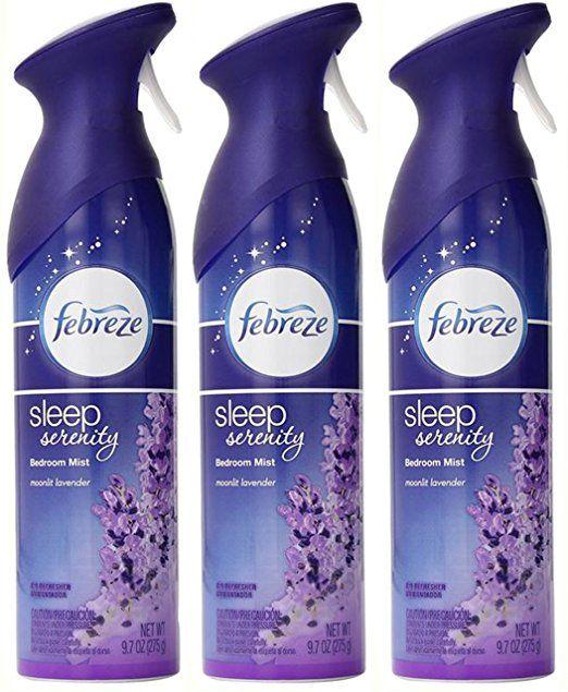 Febreze Air Effects Sleep Serenity Bedroom Mist Air Refresher Moonlit Lavender 9 7 Ounce Pack Of 3 Febreze Serenity Lavender Spray
