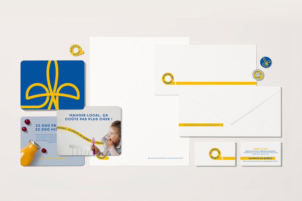 Brand New New Logo and Identity for Aliments du Québec by