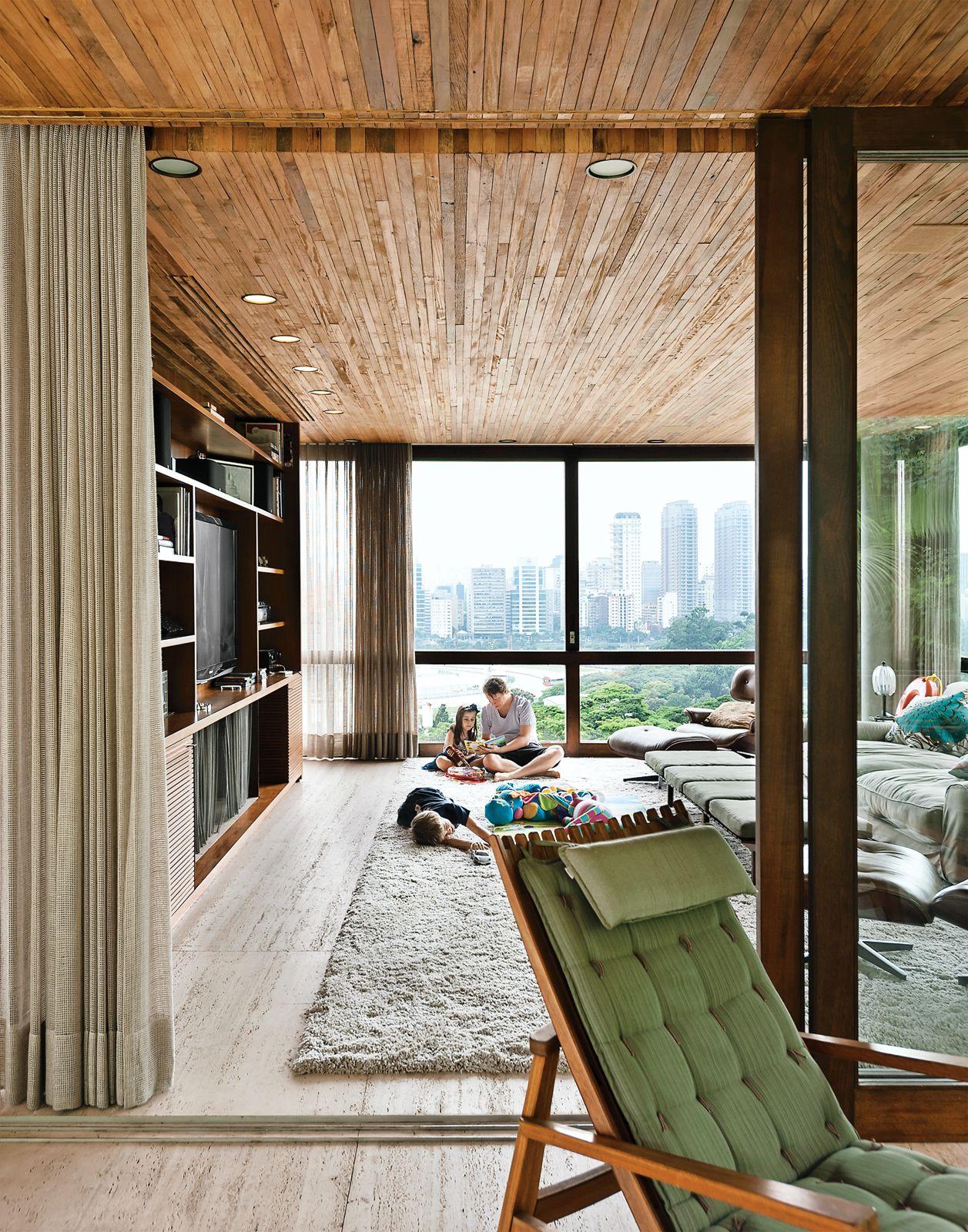Modernes bungalow innenarchitektur wohnzimmer dwell  modern homes in brazil  modern houses  pinterest  haus
