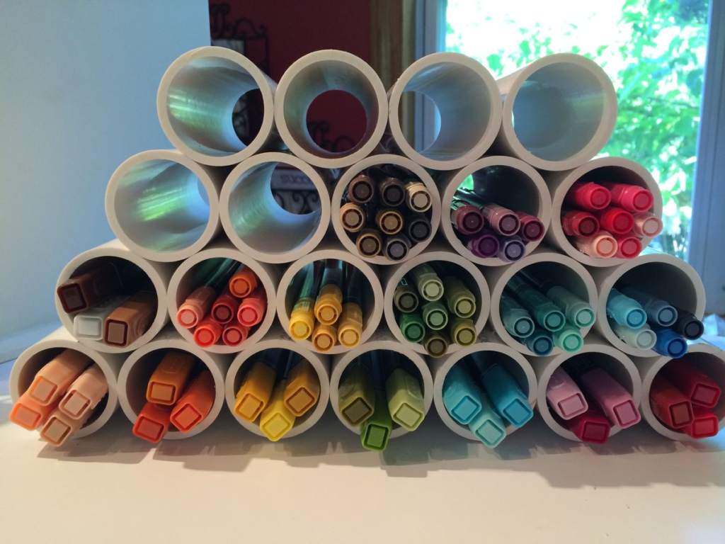 30 diy storage ideas for your art and crafts supplies marker 30 diy storage ideas for your art and crafts supplies solutioingenieria Choice Image