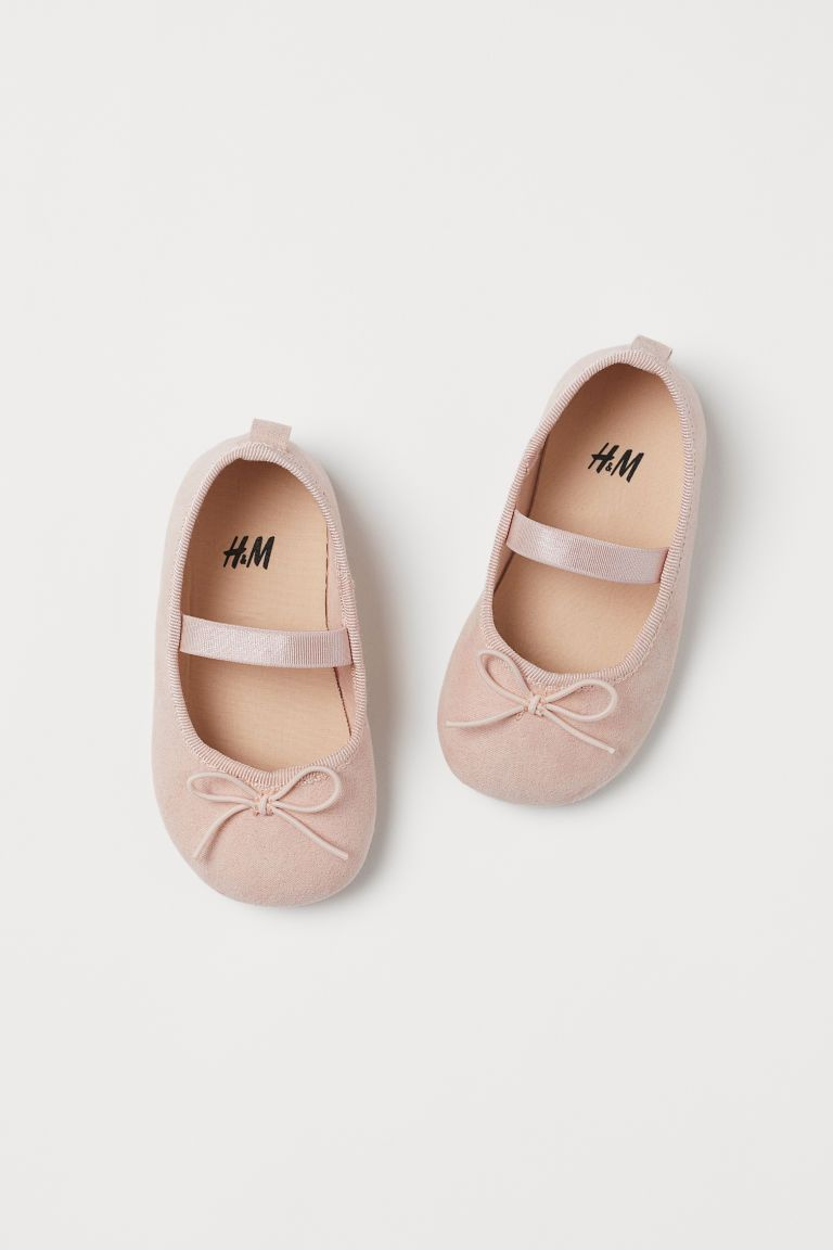 Ballet Flats Powder Pink Kids H M Us 1 Con Imagenes