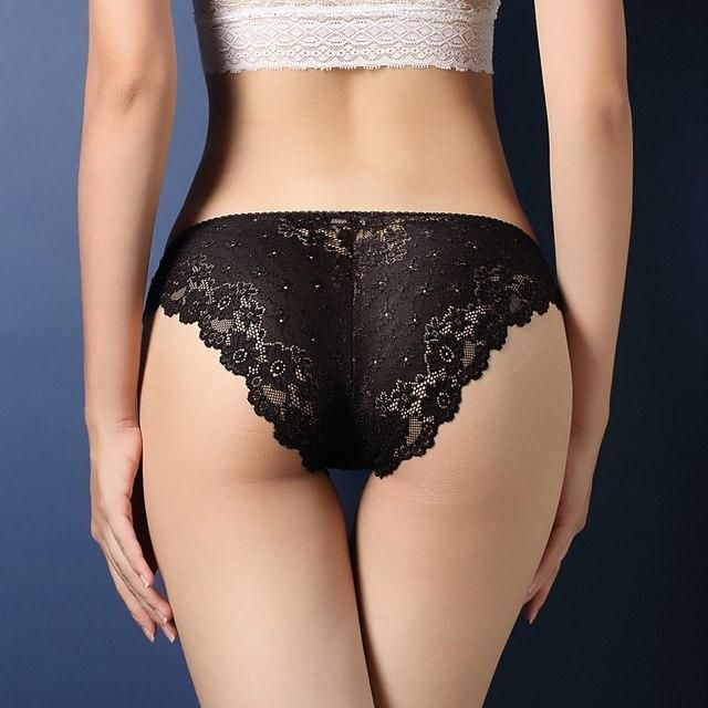 8de72d6ff52 Lace Hollow Low-Rise Panties For Women Brief Sexy Ultra-thin Underwear Girl  Seamless Breathable Panties