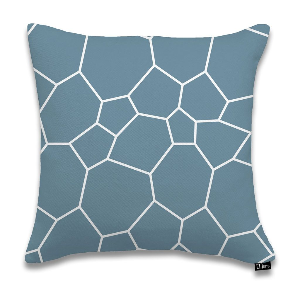 "17""x17"" Poligoni Pillow, Dusk by DQtrs @ Luxe Yard  //  Great, playful geometry and cool colors. Yes."