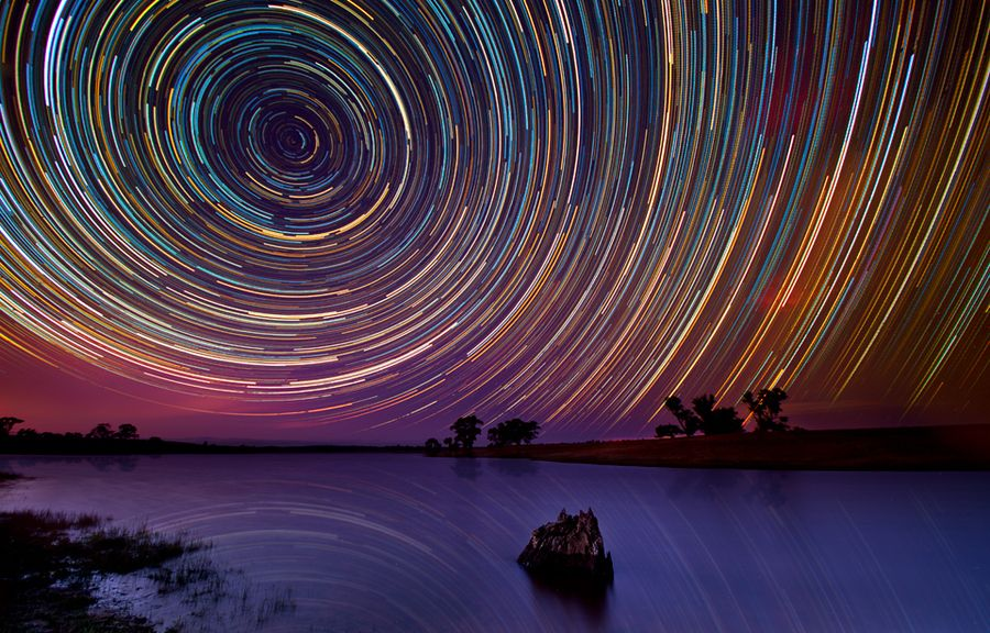 Lincoln Harrison captures stunning long exposure photographs of star trails in the night sky.