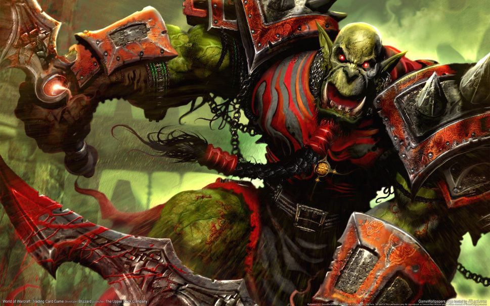 World of warcraft wow trading card game orc warrior creek