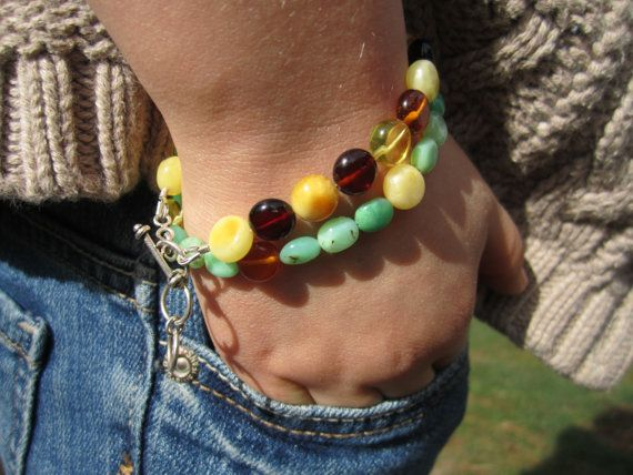 ON SALE  Childrens Baltic Amber and Chrysoprase by QuinnKorisaLLC, $69.00