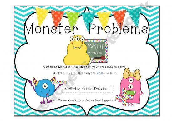 Monster Problems   Tales-of-a1stGradeTeacher Shop - | Teachers Notebook