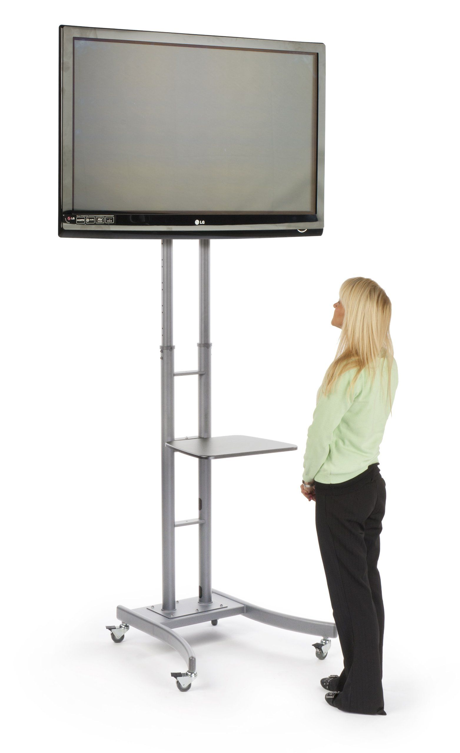 for beautiful screen of lcd inch pedestal stand tv flat modern corner new table