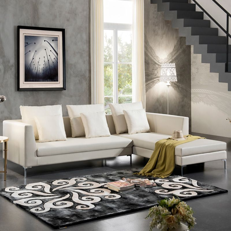 The possibilities are endless when you use white as the base of your color palette for your living room furniture. new Living room furniture european style chesterfield ...