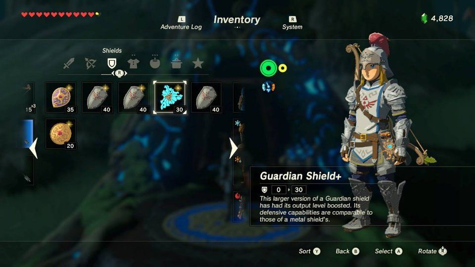 Inventory The Legend Of Zelda Breath Of The Wild Wiki Guide