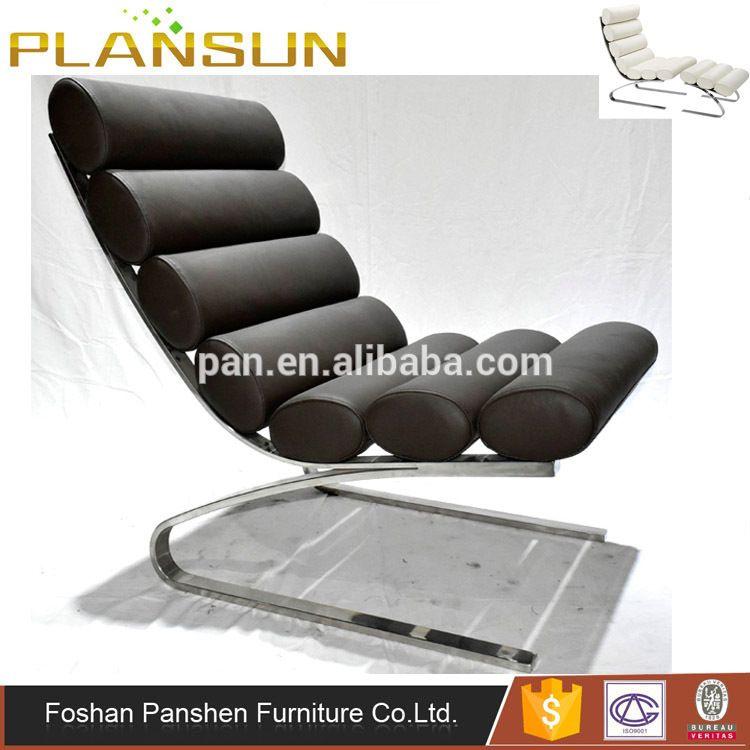 Black Replica Leather Lounge Designer Chair Furniture Chaise Sinus PZukXiO