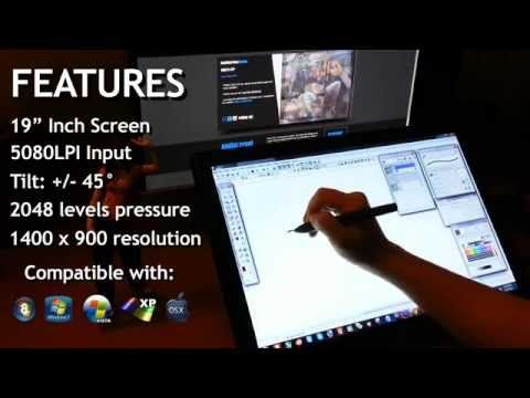 HUION GT 190 Affordable Cintiq Alternative Display Tablet Monitor