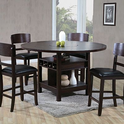 Crown Mark Conner 2849 Counter Height Table and 6 Chairs is the amazing dining set for Dining room area. & I love the extra storage....especially the wine storahe. The lazy ...