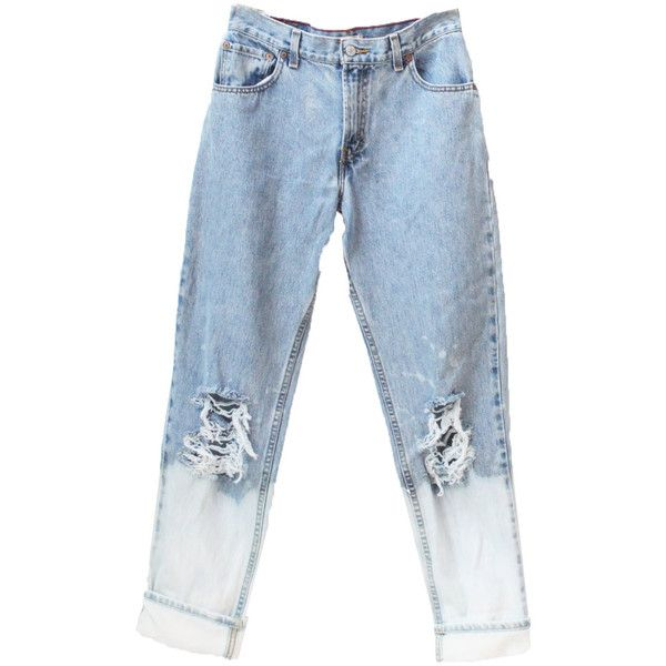 3c91c73d91e Ready to Ship Levi High Waisted Distressed Boyfriend Jeans Destroyed...  ( 20) ❤ liked on Polyvore featuring jeans