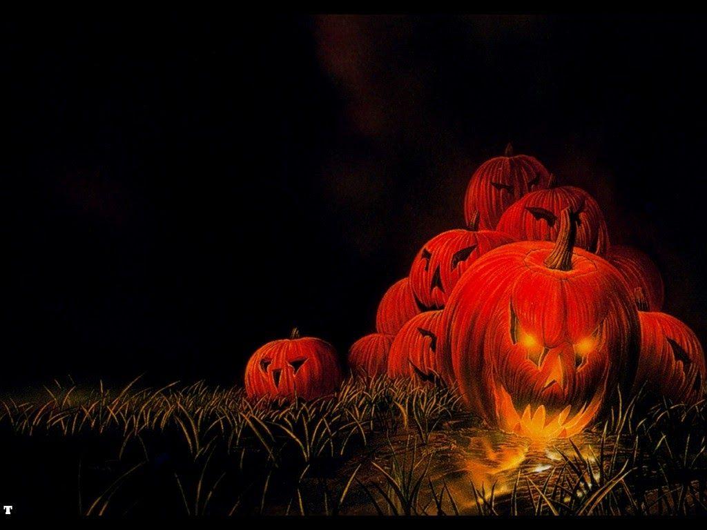 Открытка с хэллоуином тыква