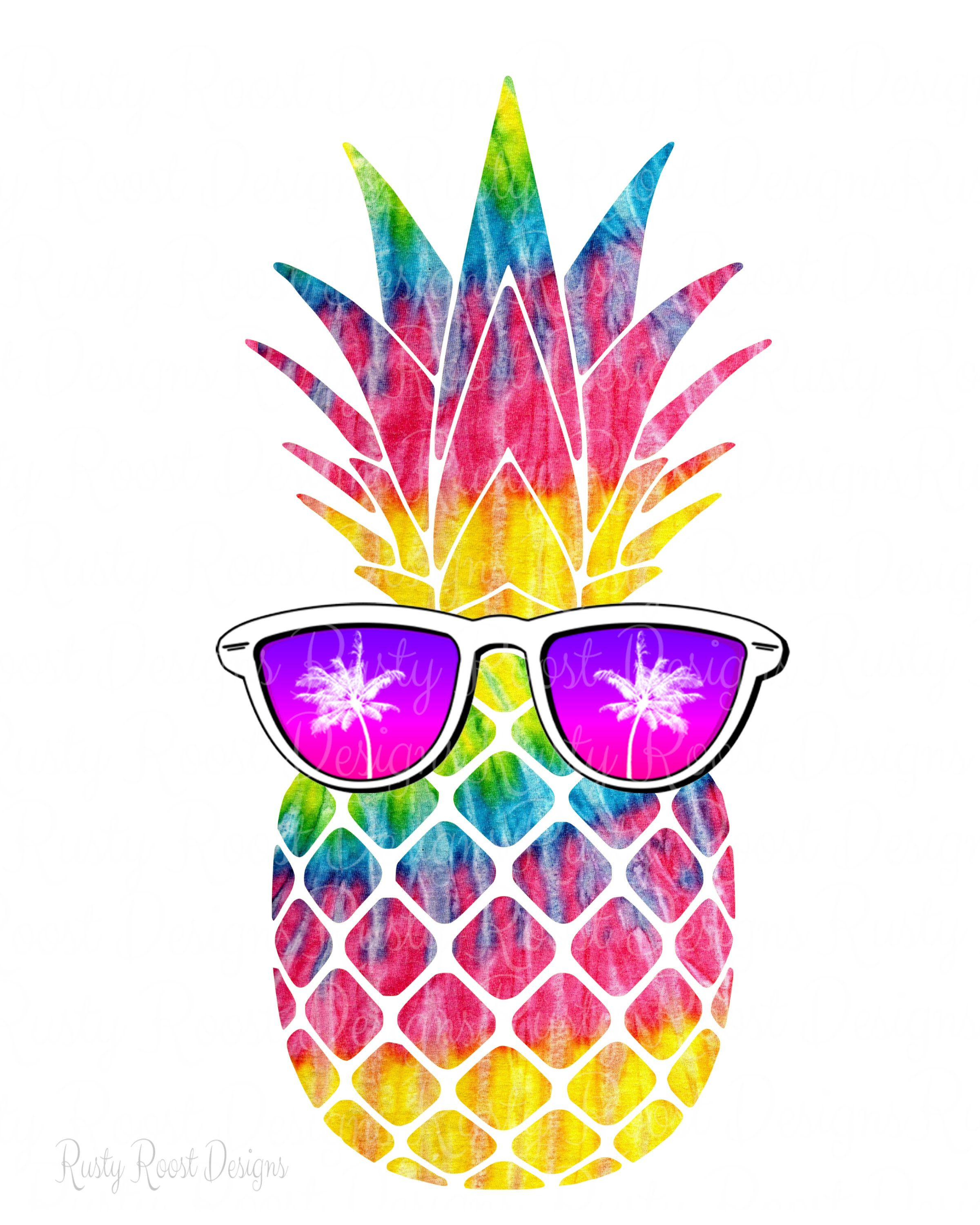 Pineapple Png Pineapple With Sunglasses Sublimation Design