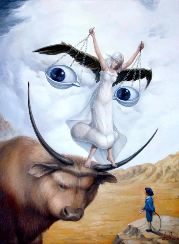 Le peintre Artush Voskanyan crée des illusions de visages avec des mises en scène danimaux