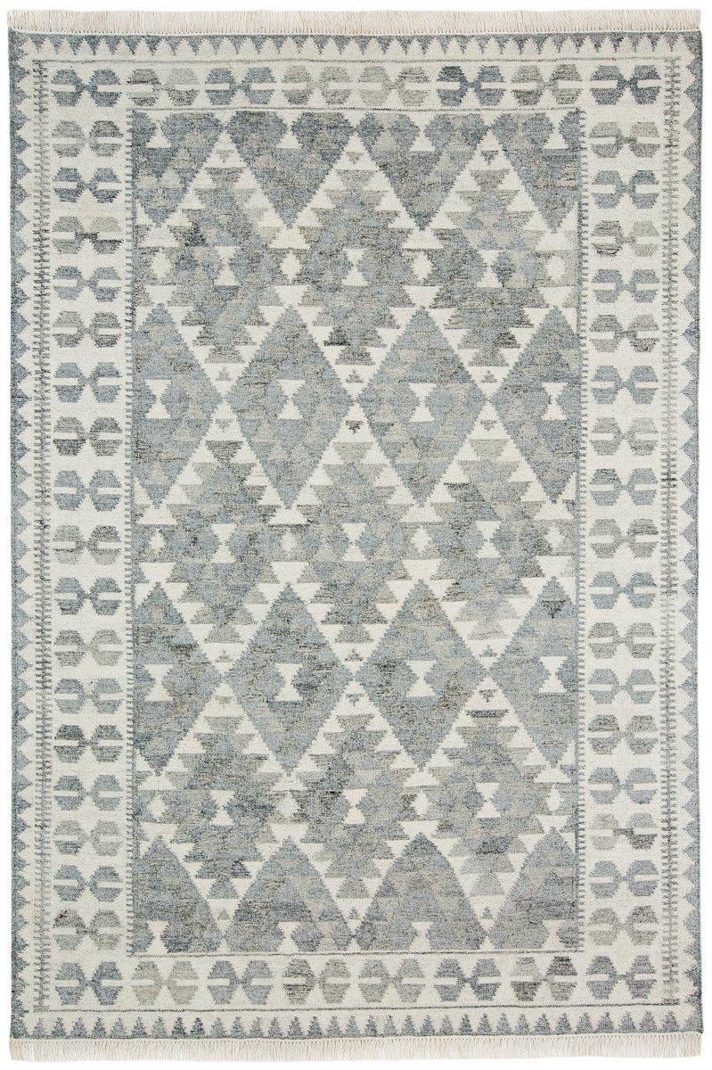 Helki Monochrome Grey Scandi Wool Rug Rugs Wool Rug Natural Fiber Rugs