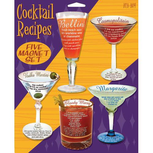 Cocktail Drinks Recipes Magnet