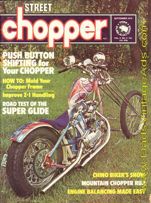 Cover Photo Phillip Flipper Seldes Blue Smoker Oceanside New York Features Weekend Run Pushbutton Shifter Cycle Saloon Super Glide Road Test