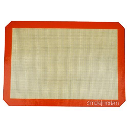 Simple Modern Premium Nonstick Silicone Baking Mat Half Sheet Size 1158 X 1612 Replacement For Parchment Paper Orange Cookies Silicone Baking Mat Baking Mat