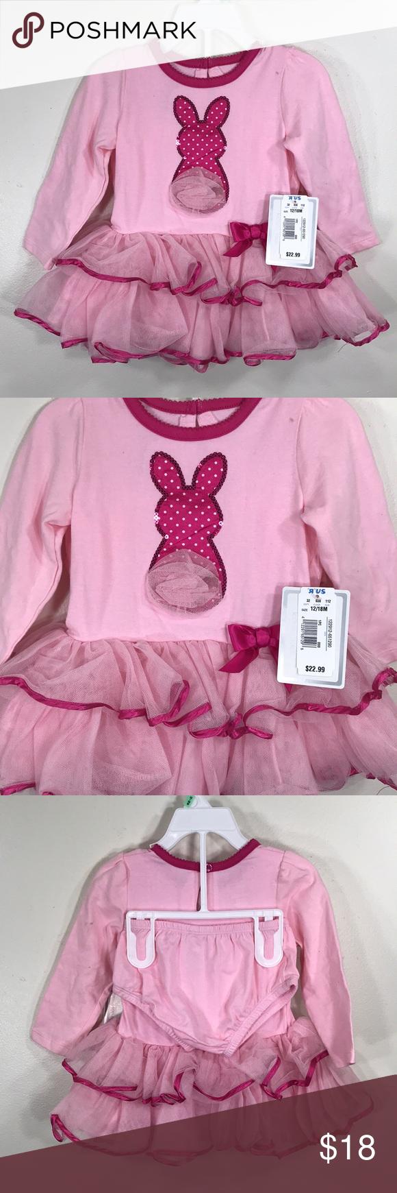 Koala kids bunny rabbit dress pink months nwt en my