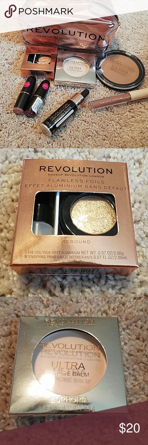 Makeup Revolution Bundle Makeup bag 8x4x4, Flawless foils
